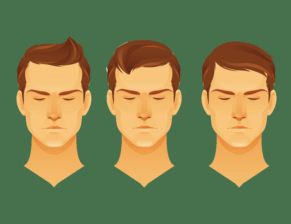 תמונה של אייקונים של סוגי עיצוב שיער לגבר